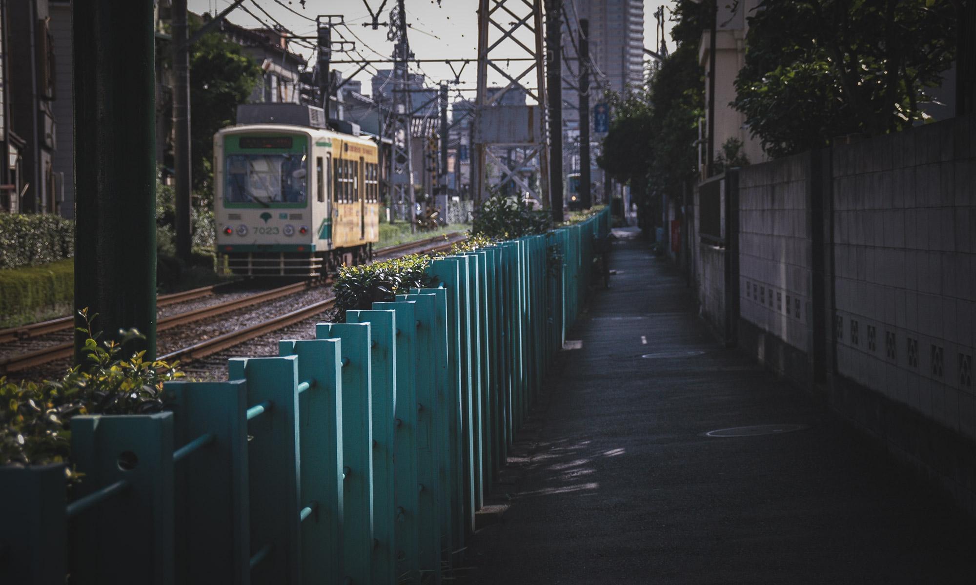 東京都北区滝野川1丁目付近を走る都電
