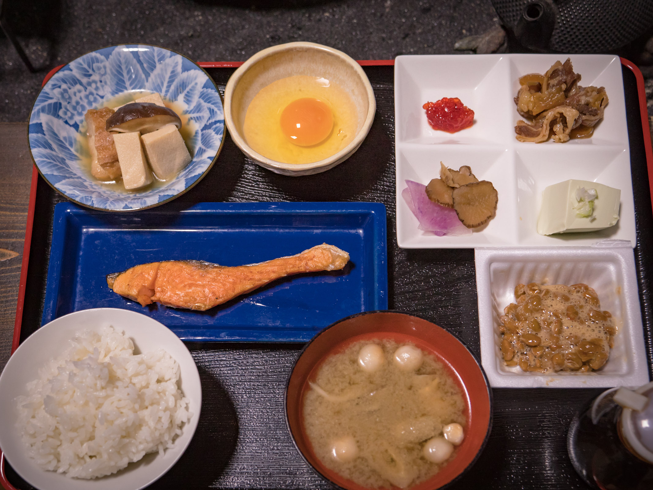 民宿「十三夜」2017年8月29日の朝食