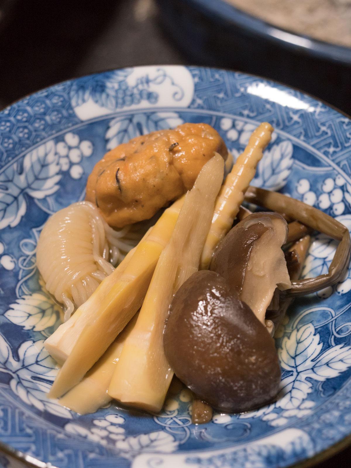 山菜の煮物 これぞ東北の味 椎茸と筍が美味 DMC-GX8 + LEICA DG 12-60mm