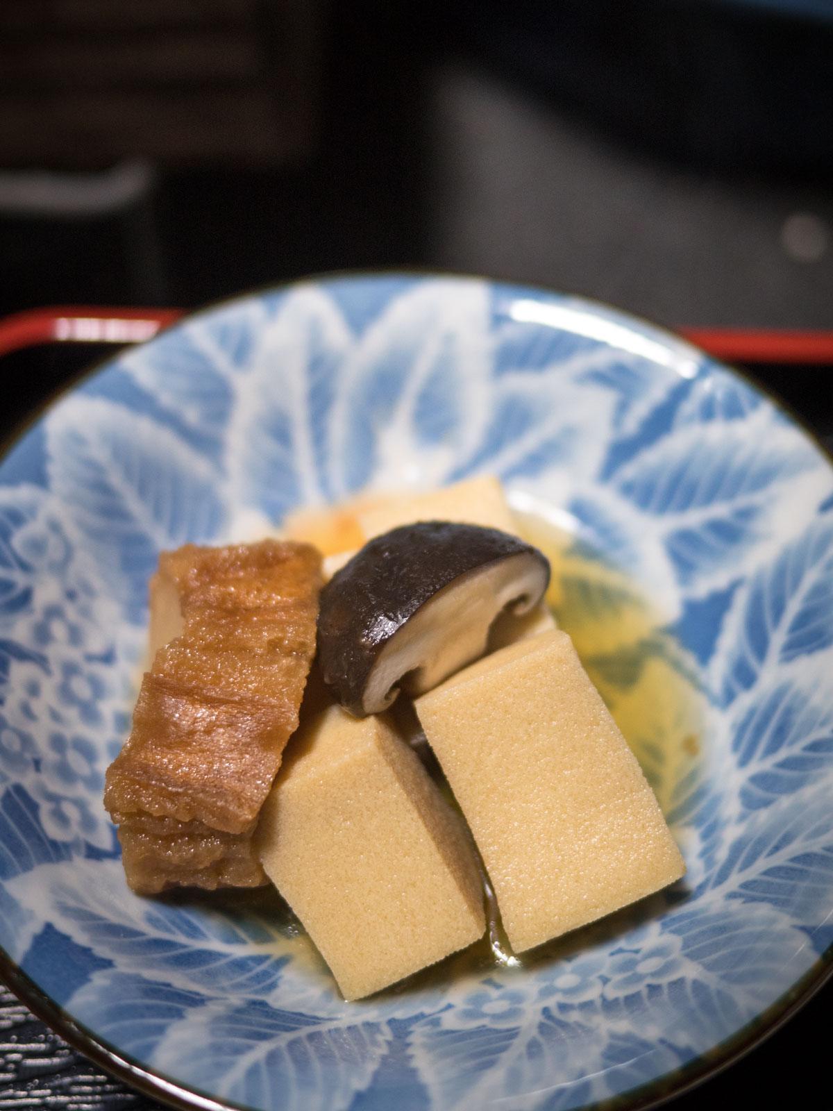高野豆腐と車麩メインの煮染め