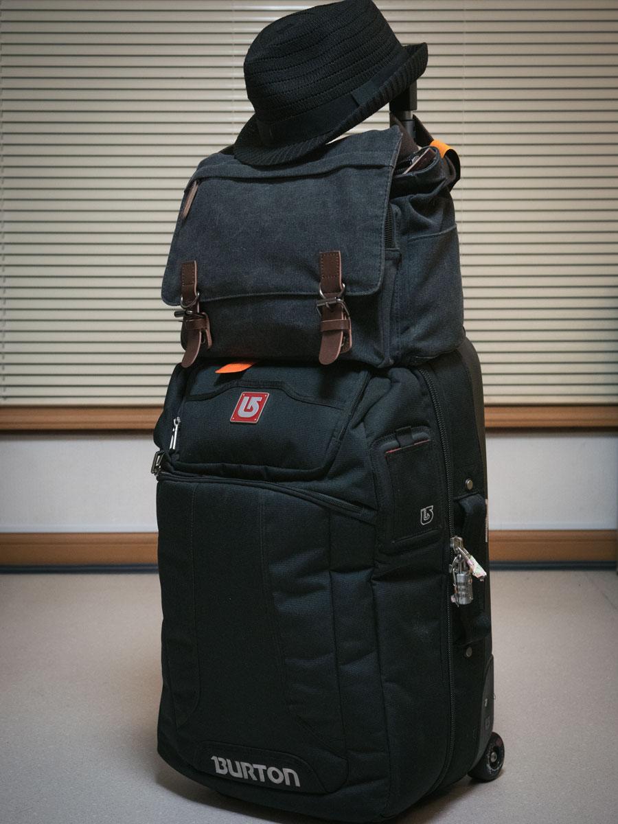 いつもの旅支度 携行バッグが変わった