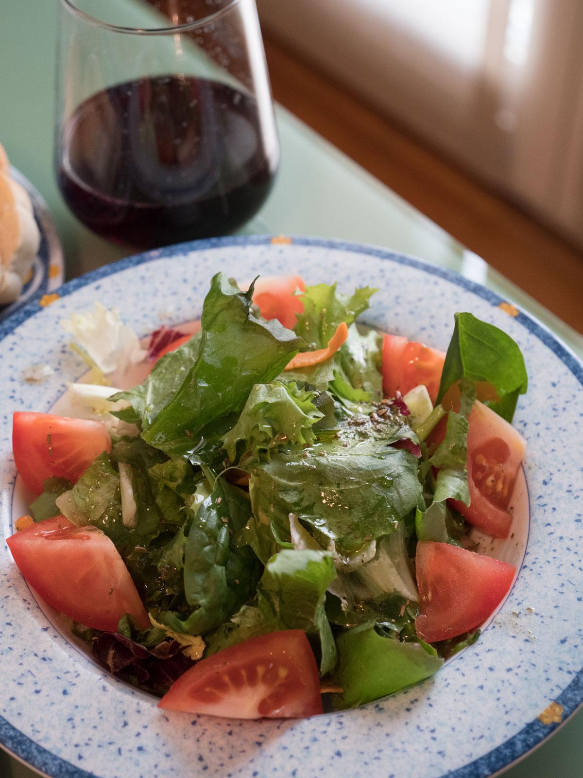 5種の野菜のサラダ