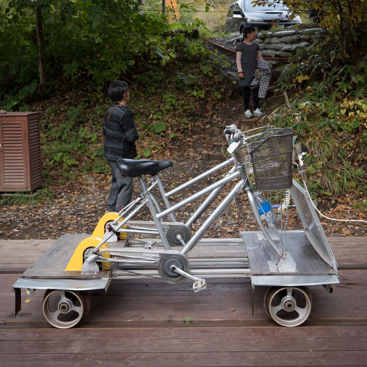 小坂鉄道レールパークのレールバイク 撮影:DMC-GX8 + LEICA DG 12-60mm