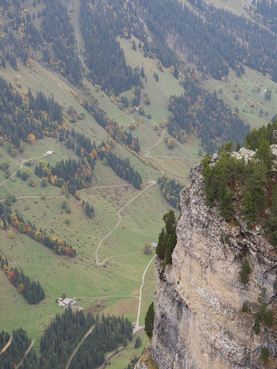 山頂からの眺め 足がすくむ