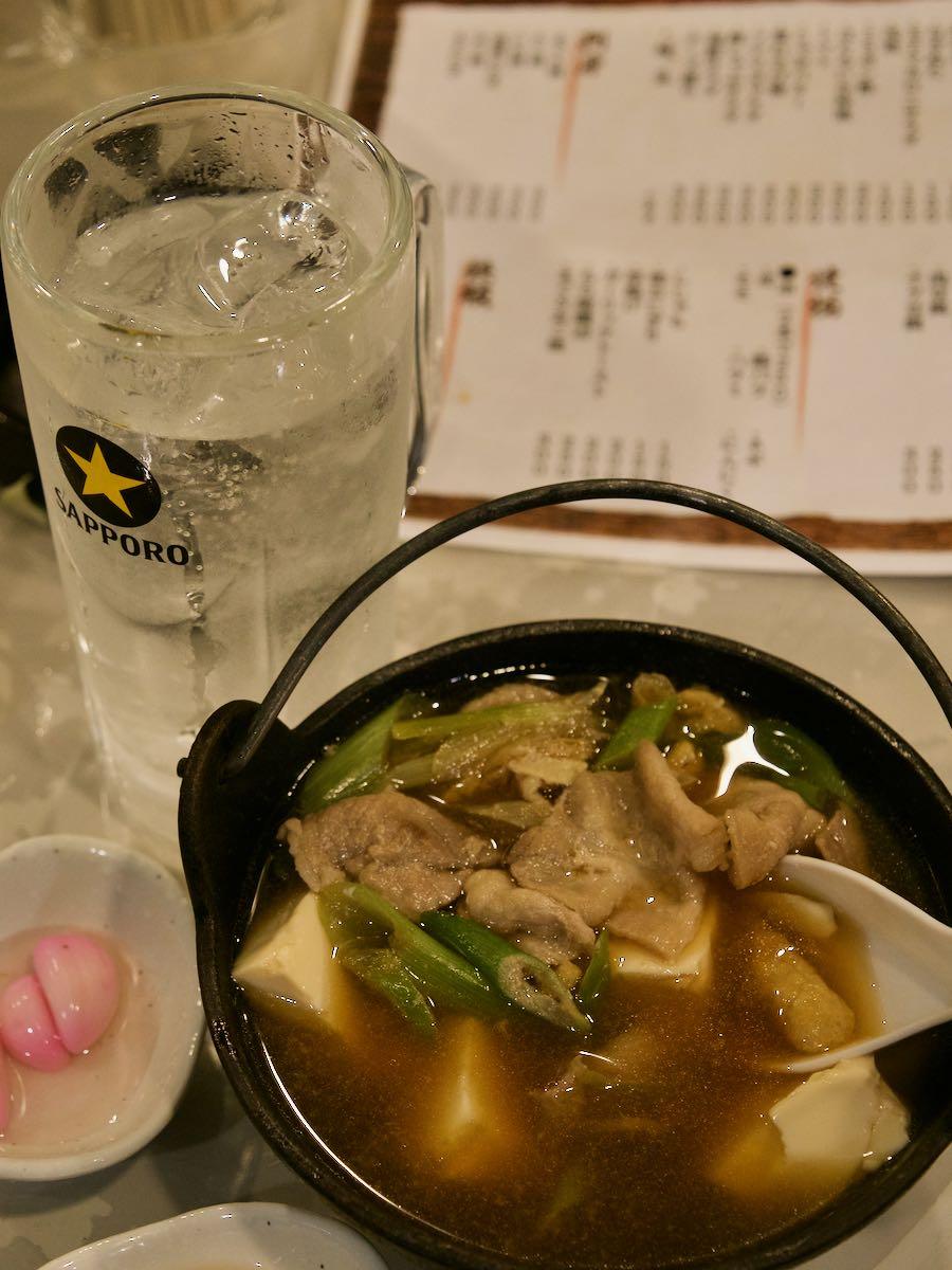 肉豆腐とチューハイ 合わせて350円 アンビリーバボ