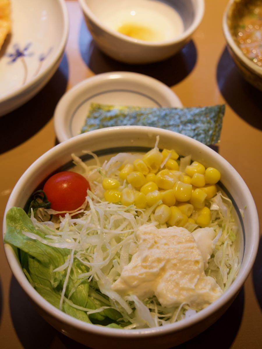 野菜サラダ150円を追加