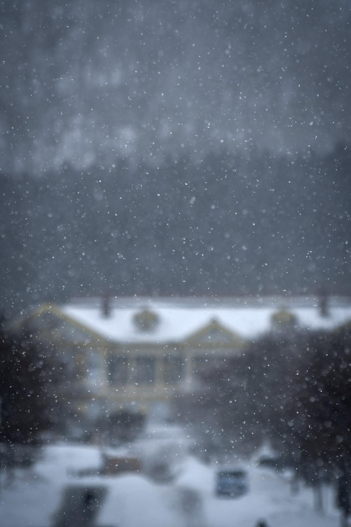 雪の向こう 朧な公会堂