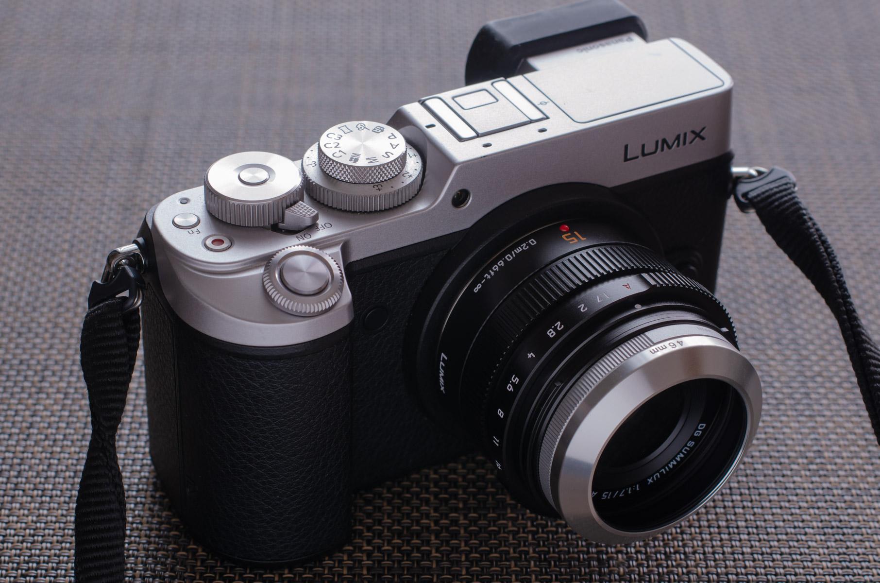 DMC-GX8にLEICA DG 15mm、プロテクトフィルター、ETSUMI メタルインナーフードをセット