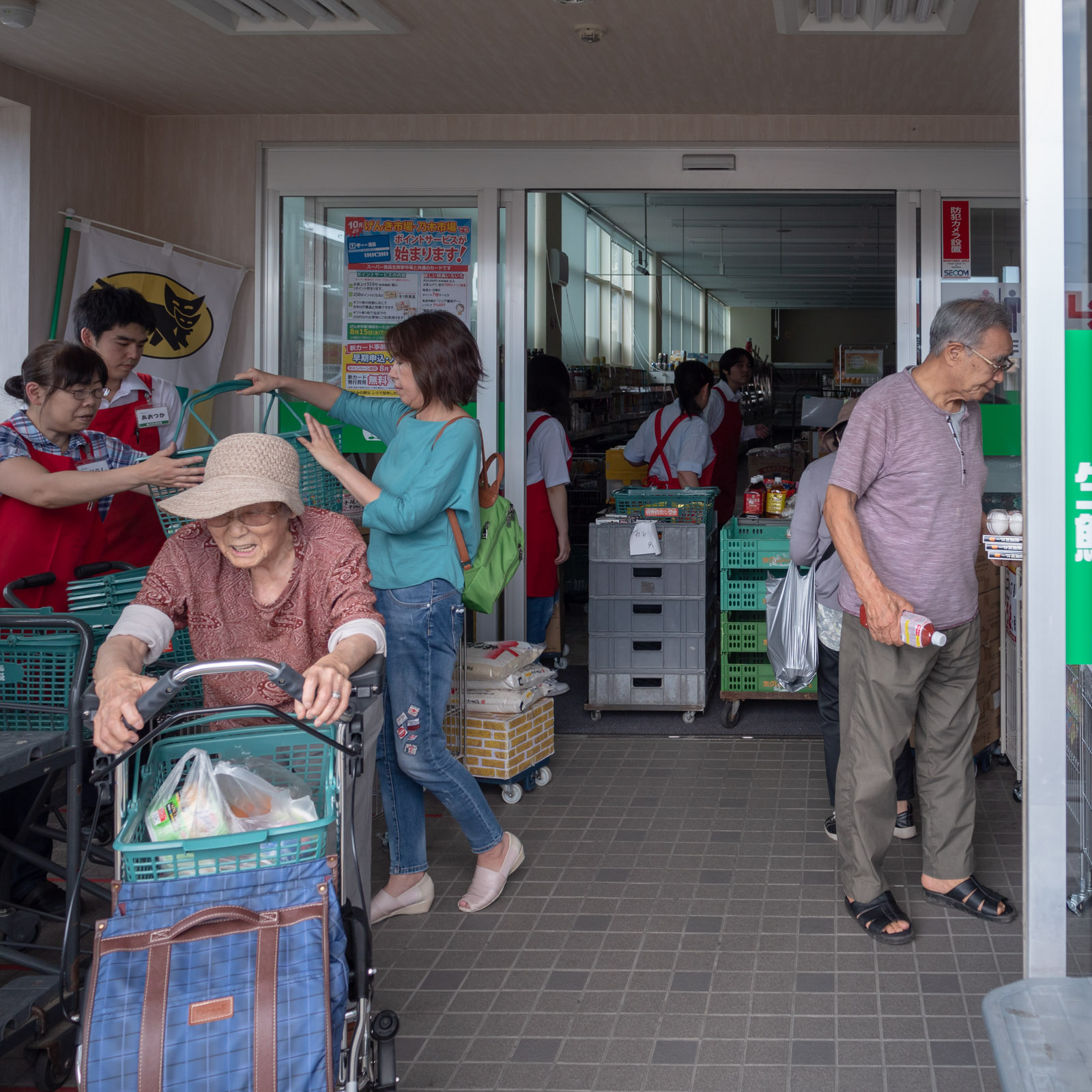 生鮮夢市場赤川店の臨時販売