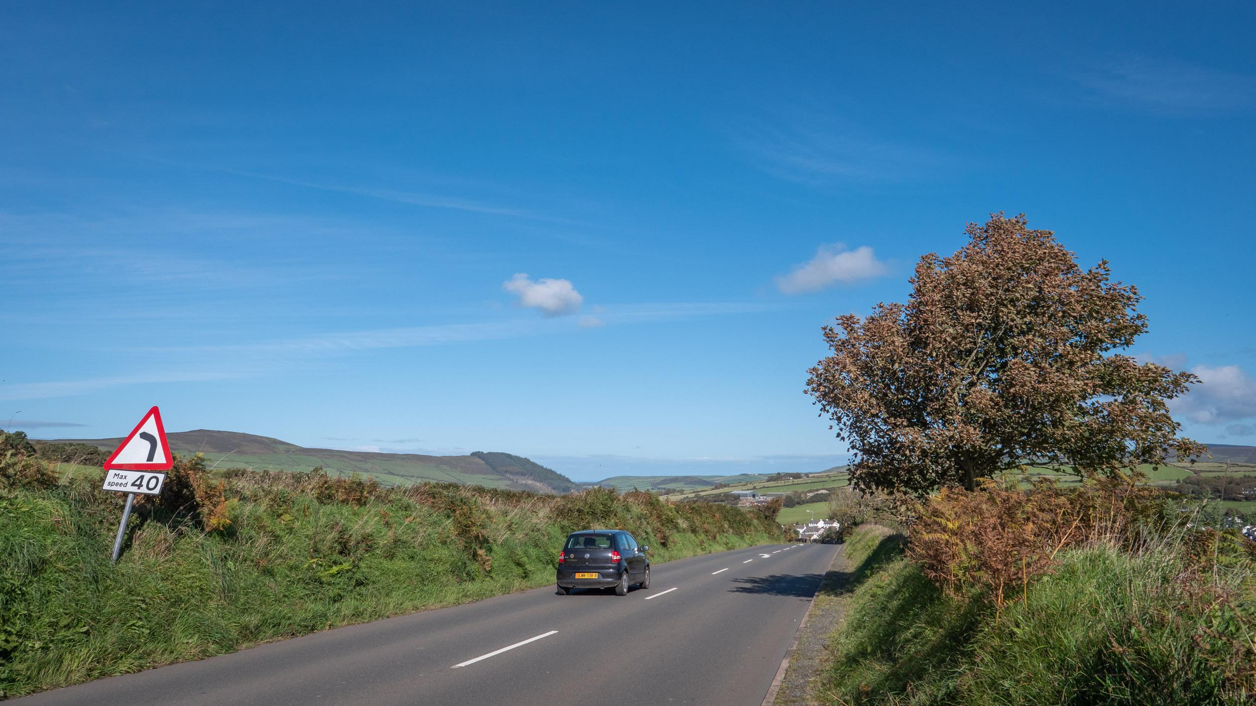 ピールに続くA3:普通の田舎道だが抜群に路面が良くて走りやすい DMC-GX8 + LEICA DG 12-60mm