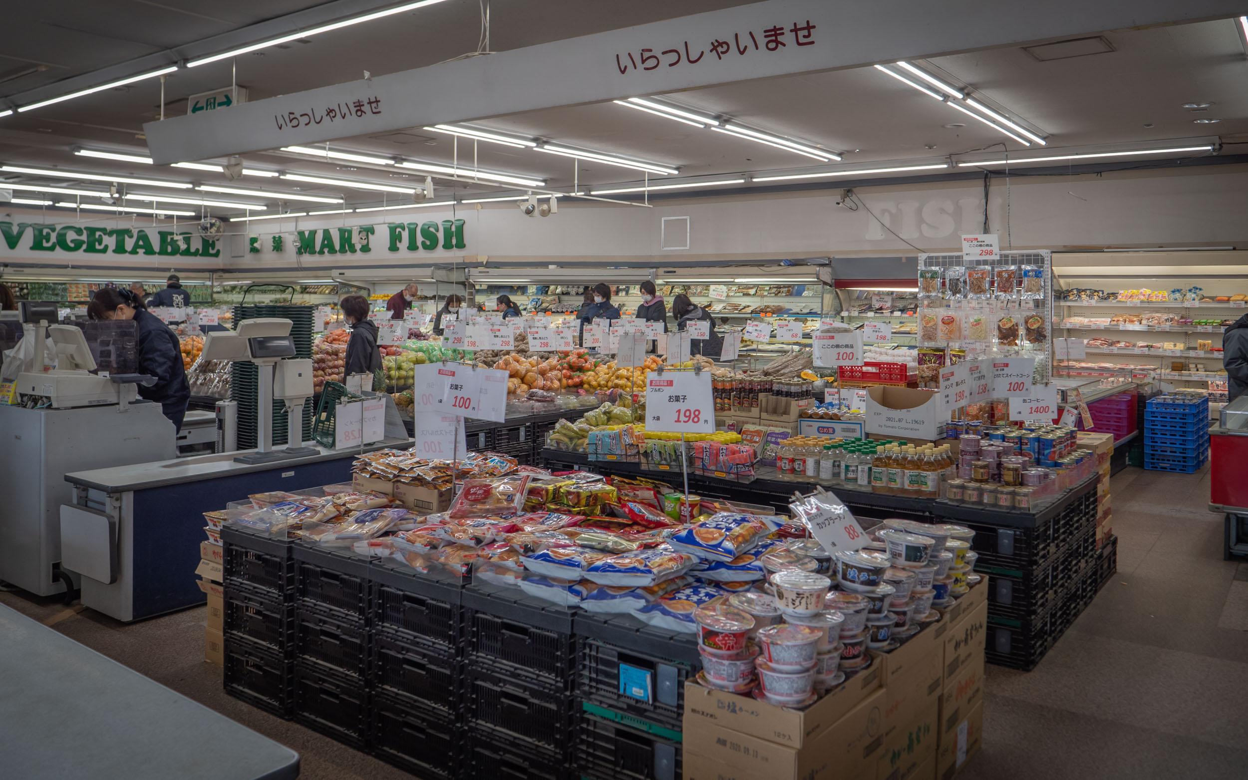 深澤青果 本郷市場店の店内の様子 DMC-GX8 + LEICA DG 12-60mm