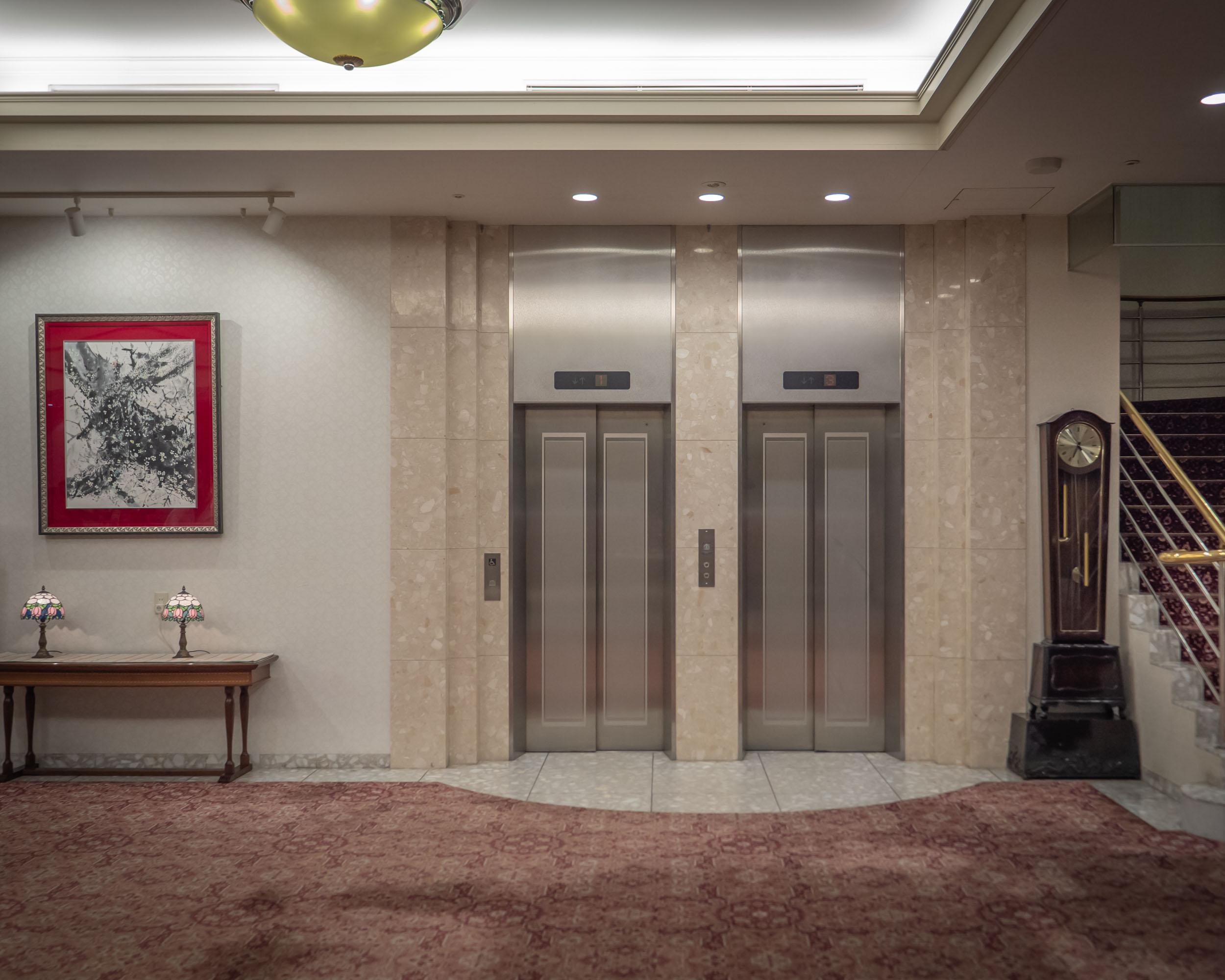 札幌第一ホテル エントランスのエレベーター DMC-GX8 + LEICA DG 12-60mm