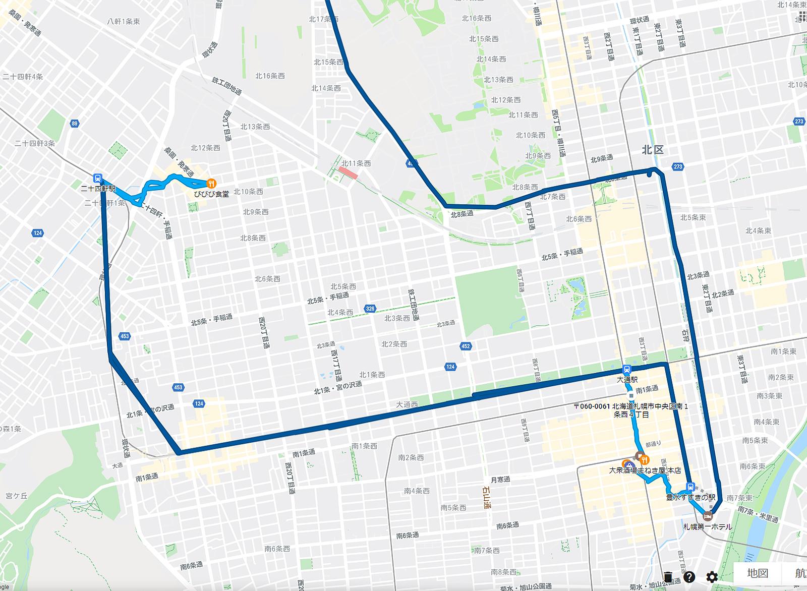 2020年3月23日のタイムライン びびび食堂、まねき屋などを地下鉄と徒歩で回る