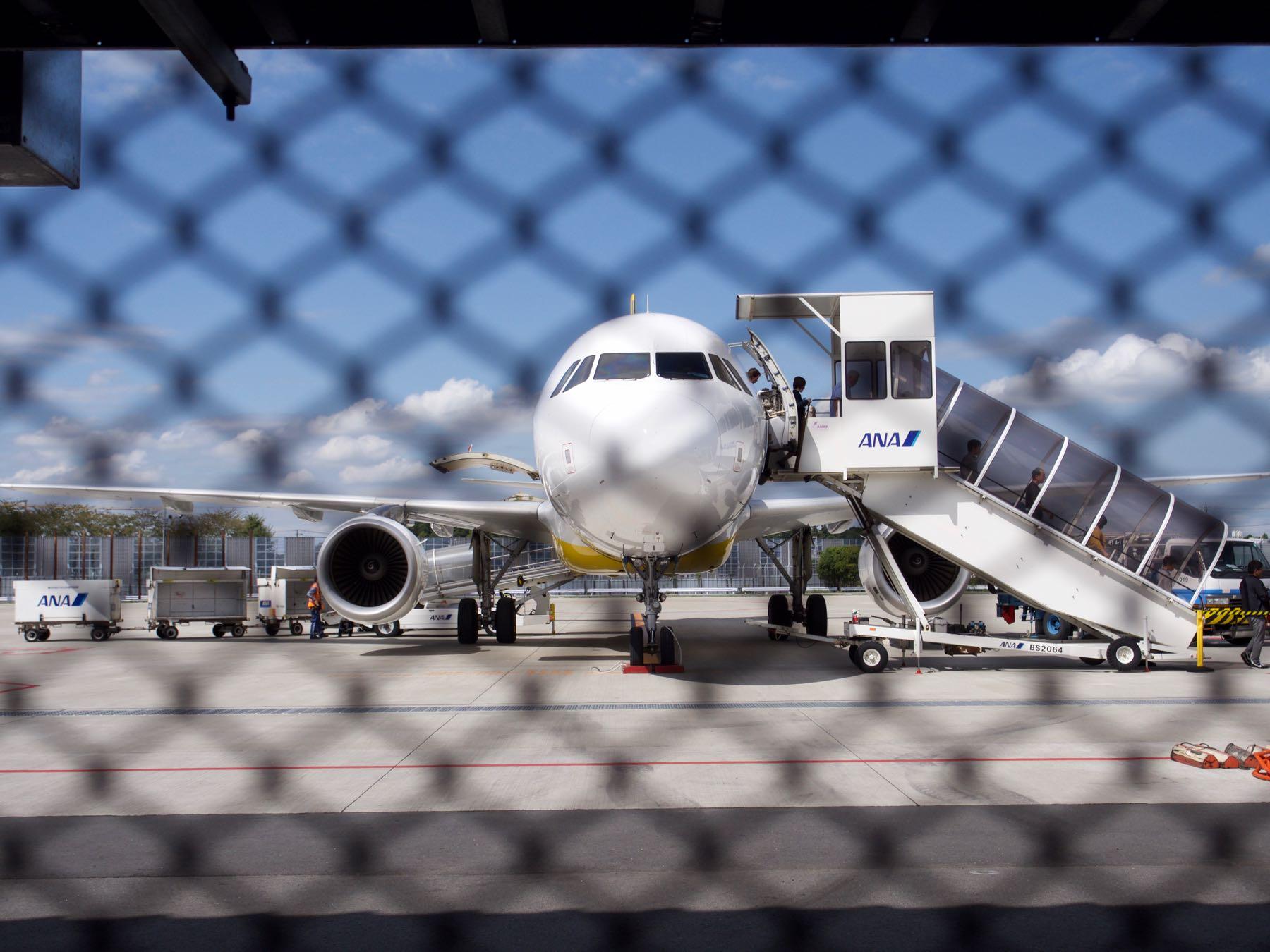 成田空港第3ターミナルに到着したバニラエア